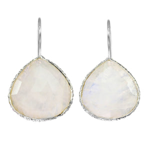 Moonstone Bezel Earring