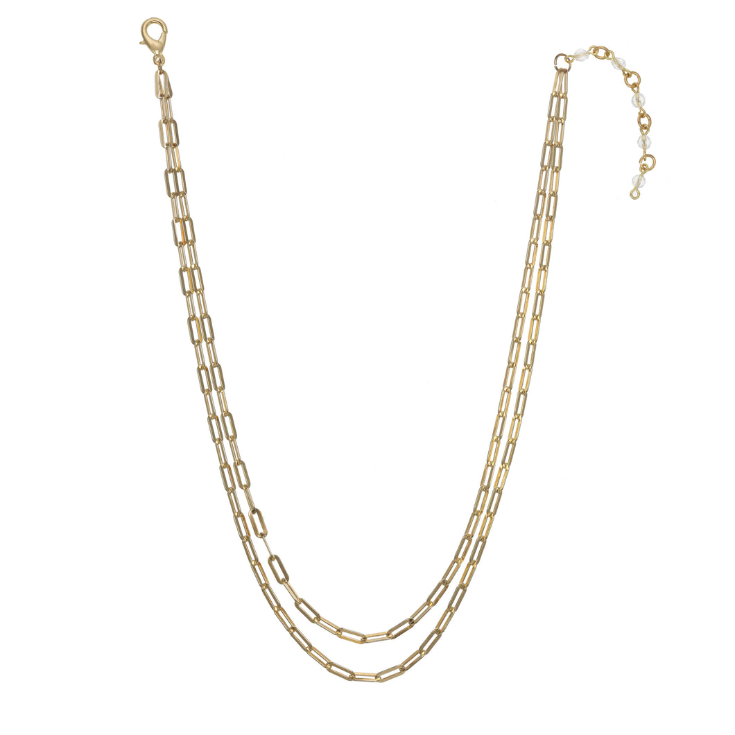 Gold Link Best Selling Paperclip Necklace