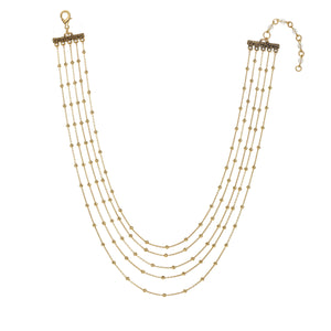 Multi Row Ball Chain Necklace