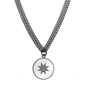 Starburst Silver Necklace