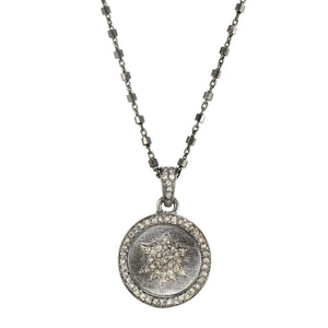 Petite Diamond Starburst Pave Necklace