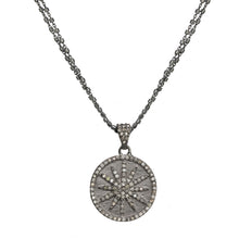 Load image into Gallery viewer, Diamond Starburst Pendant Necklace