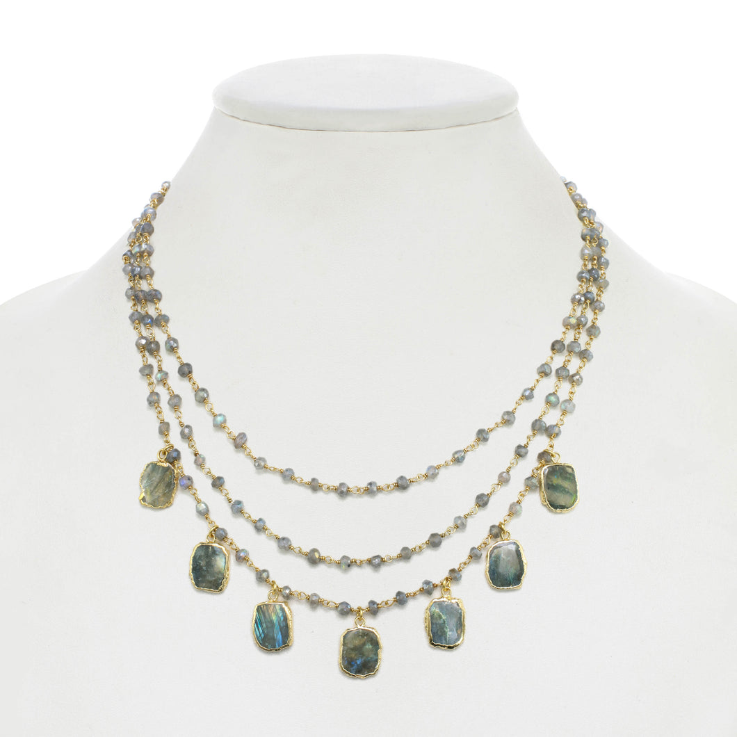 Labradorite Layered Necklace