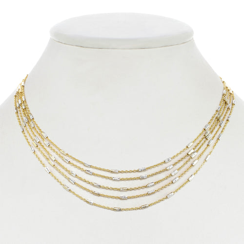 Gold Vermeil Layered Chain Necklace