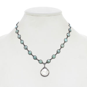 Sea Foam Green Chalcedony Pendant Necklace