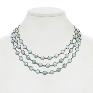 Sea Foam Green Chalcedony Layered Necklace