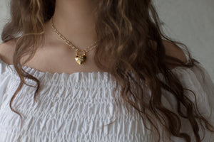 Pearl Heart Padlock Necklace