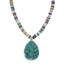 Load image into Gallery viewer, Mixed Medley and Turquoise Pendant Necklace