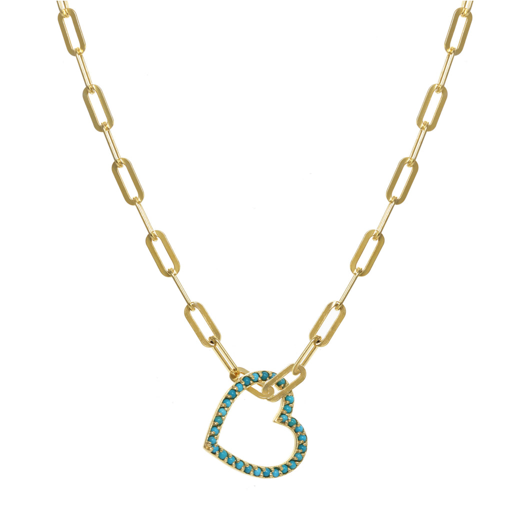 Turquoise Pure Heart Necklace