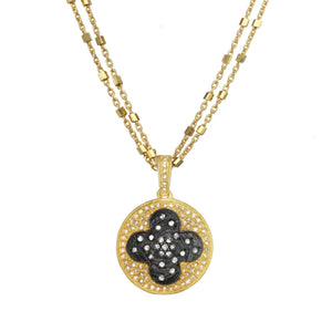 Gold Rush Diamond Clover Necklace