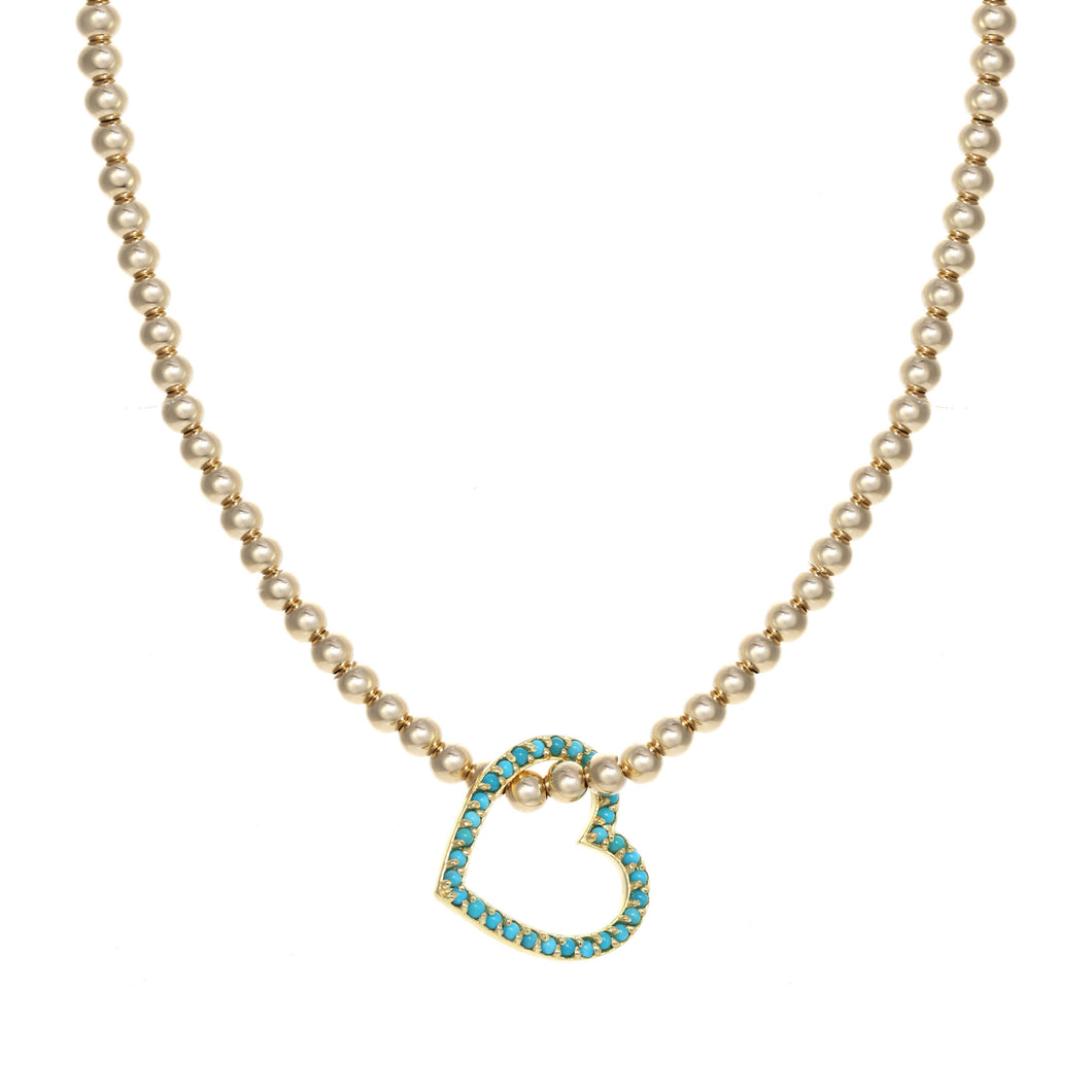 Turquoise Hang your Heart Necklace