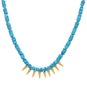 Turquoise Mini Spike Necklace