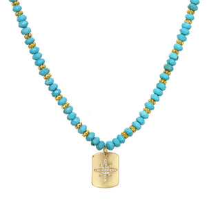 Turquoise Starburst Necklace