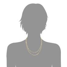 Load image into Gallery viewer, Two Tone Gold and Silver Layered Necklace