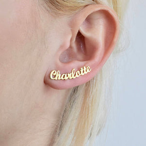 Earring with your or your Loved one's name (Personalized Earrings)