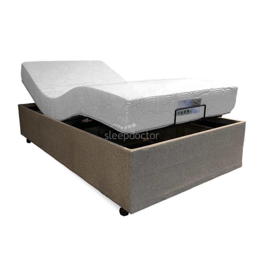 3500-350 Deluxe Adjustable Bed Base & Bronze Mattress - NDIS Eligible