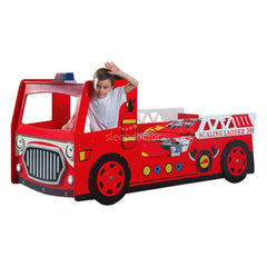 Modern Fire Engine Bed with LED Headlight & Steering Wheel