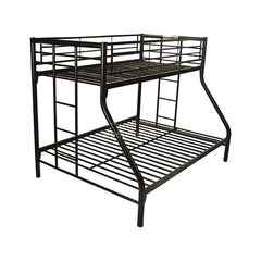 Urban Mk3 Metal Black Double - Single Bunk Bed