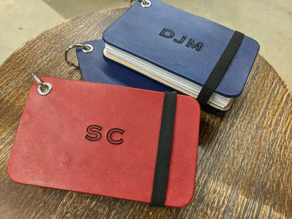 "Index Card Holder - 3""x5"" size with STRAIGHT INITIALS"