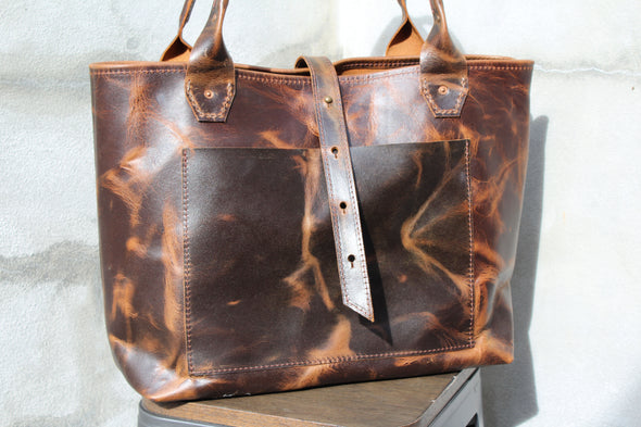 The LONDON Tote - walnut