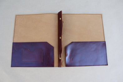 Leather Folder - ruby