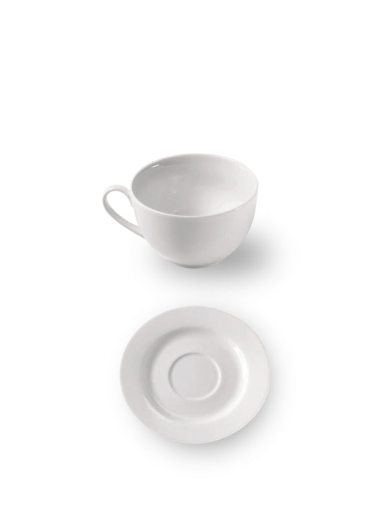 Extra Fine Porcelain Cup & Saucer Set Small (Set of 6)