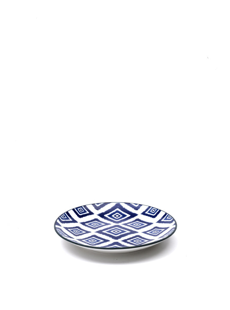 Rhapsody in Blue Dessert Plate Rhombus (Set of 6)