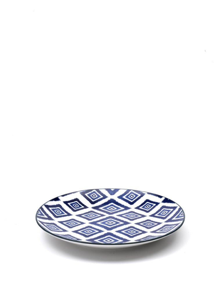 Rhapsody in Blue Medium Plate Rhombus