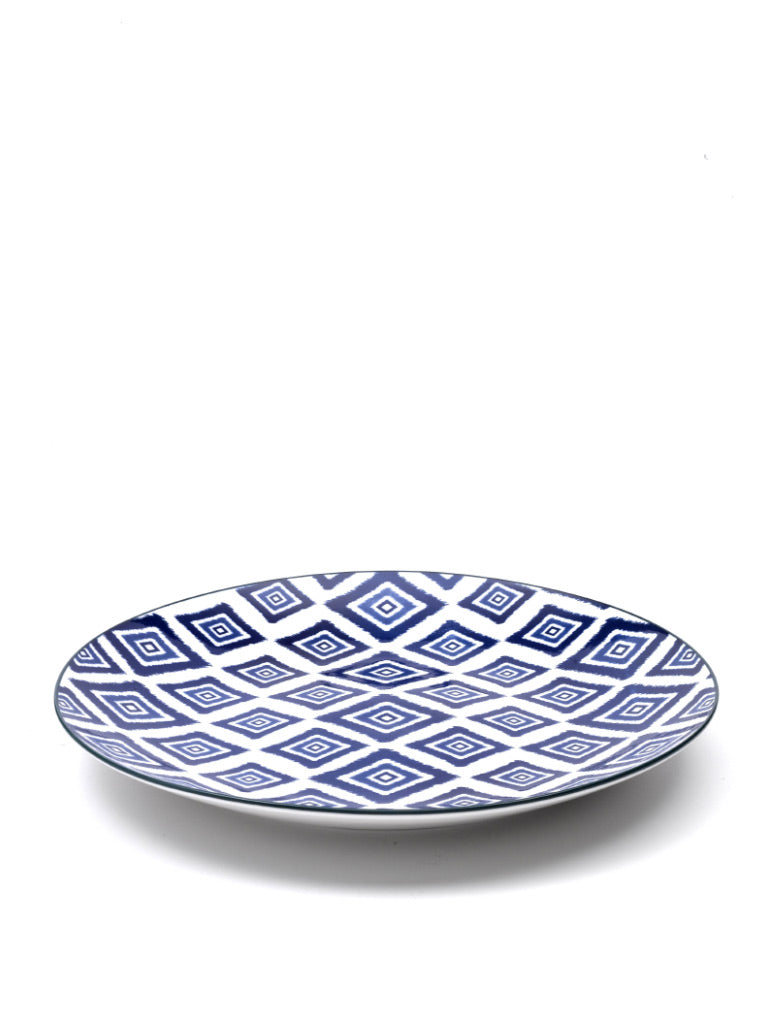 Rhapsody in Blue Large Plate Rhombus (Set of 6)