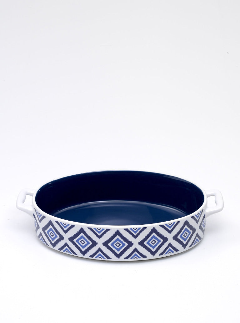 Rhapsody in Blue Baking Dish Oval