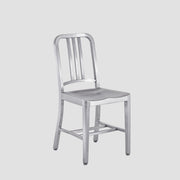 1006 Navy Chair - Brushed