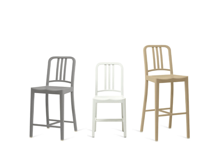 111 Navy Barstool - Beach