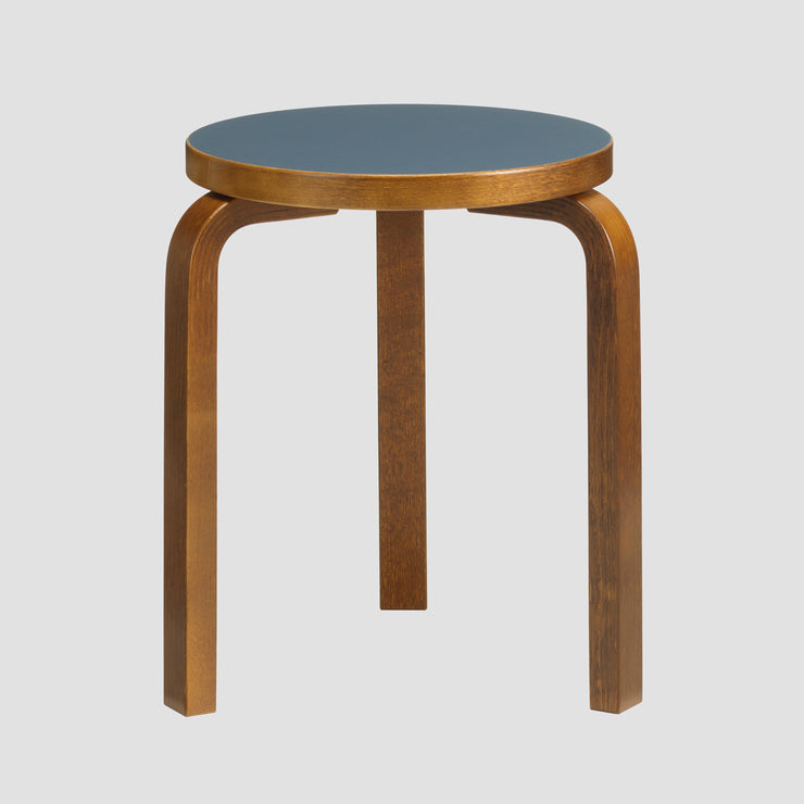 60 Stool - Walnut Stain/Blue