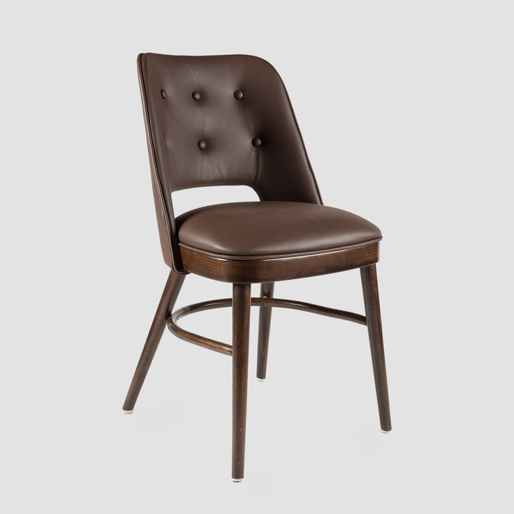 Otto Upholstered Dining Chair - Dark Oak