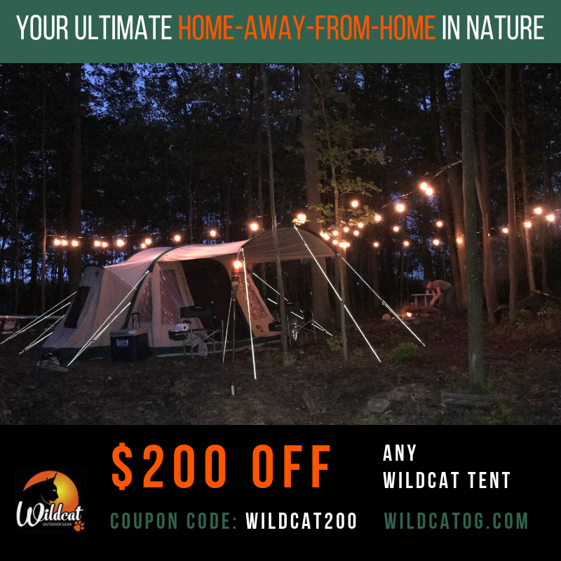 Experience a Wildcat Tent for $200 off!