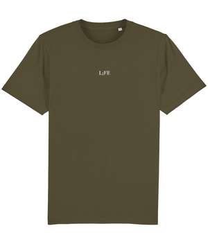 L;FE's Embroidered Unisex T-Shirt British Khaki