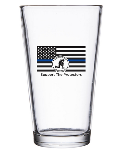 Badge of Honor Pub Glass