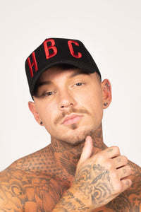 Men's HBC Cap in Black & Red
