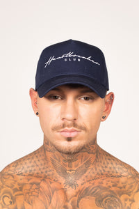 Men's Signature Cap in Navy & White
