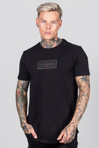 Men's Split T-Shirt in Black