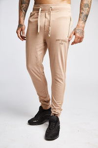 Men's Mesh Joggers in Latte