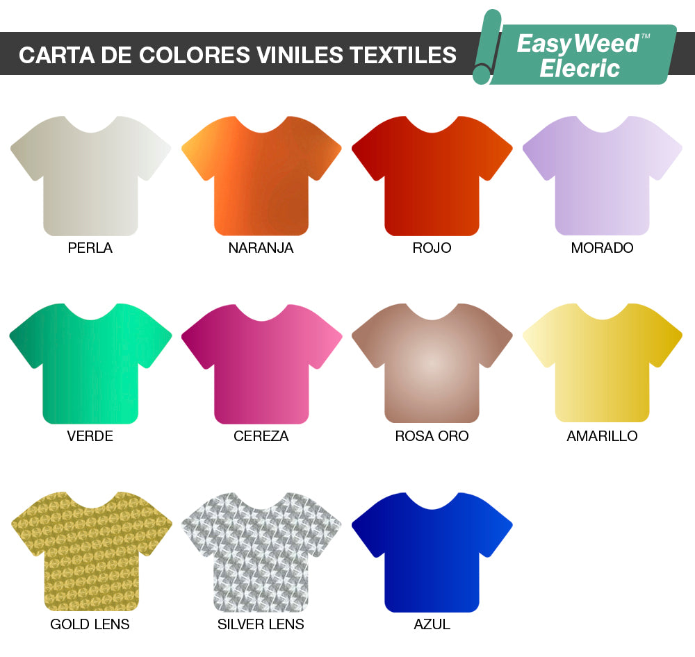Carta de colores vinil textil EasyWeed Electric de Siser