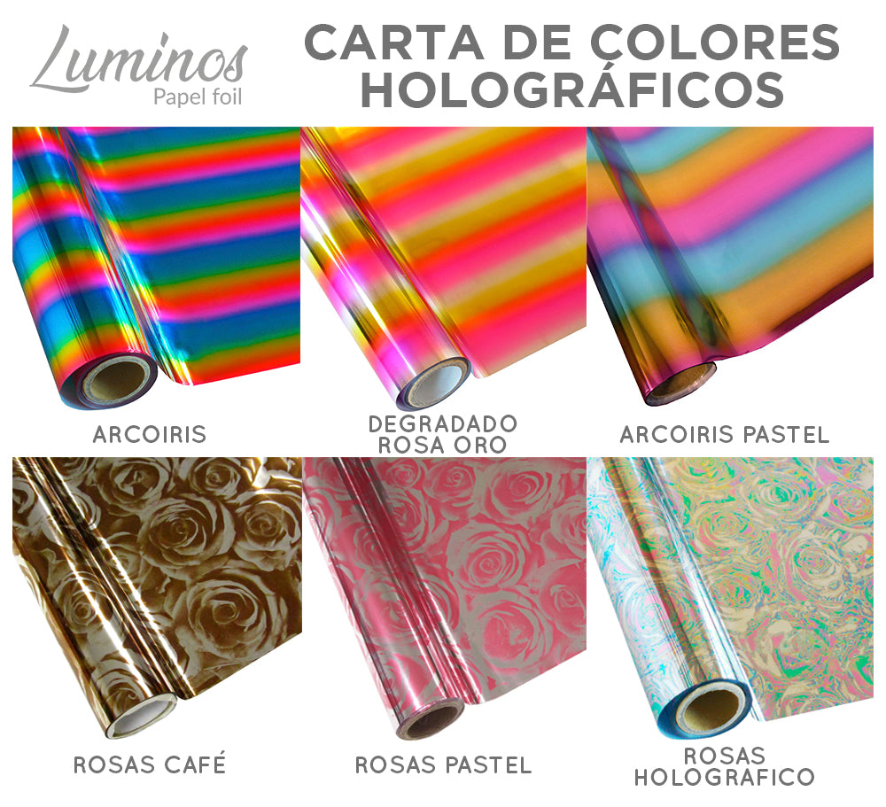 Carta de colores holografico Luminos