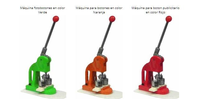 Colores disponibles Pin Maker