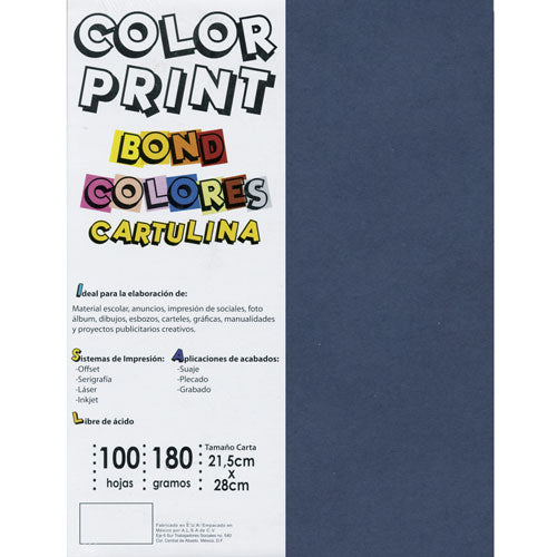 Cartulina Color Print tamaño carta de 180 g