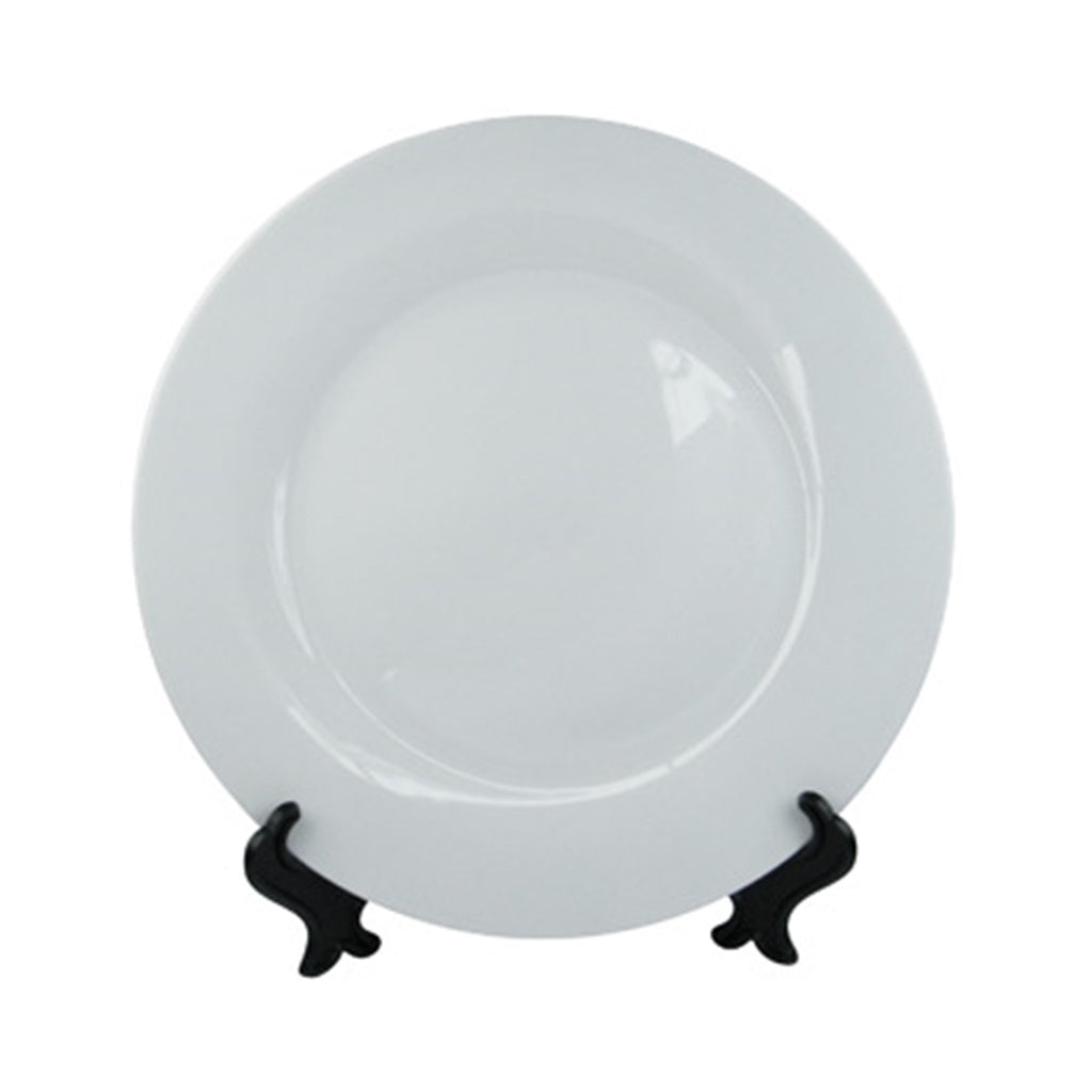 Plato blanco Sublimarts con borde de color - Lideart