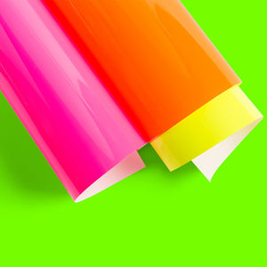 3 Hojas de Vinil Iron On Everyday Neon Glowsticks Cricut