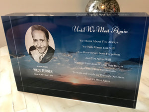 Until We Meet Again - Customizable Memorial Photo Frame