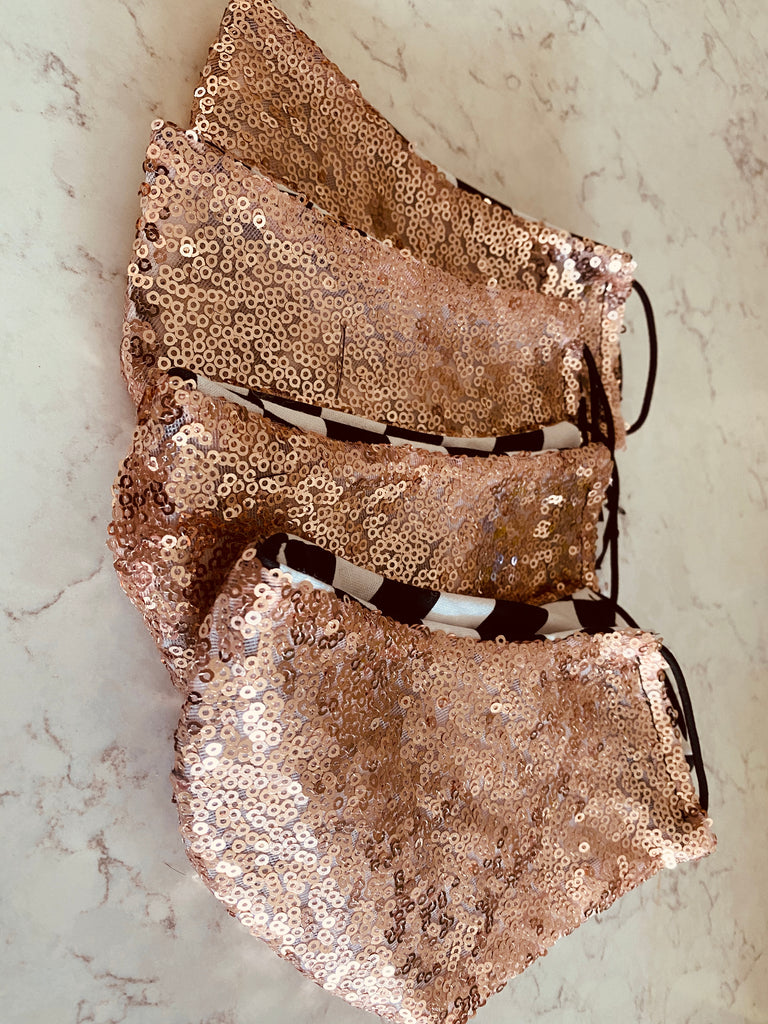 Sequins Mask - Rose Gold