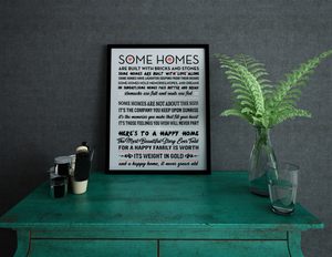 Some Homes Poem - Wall Art
